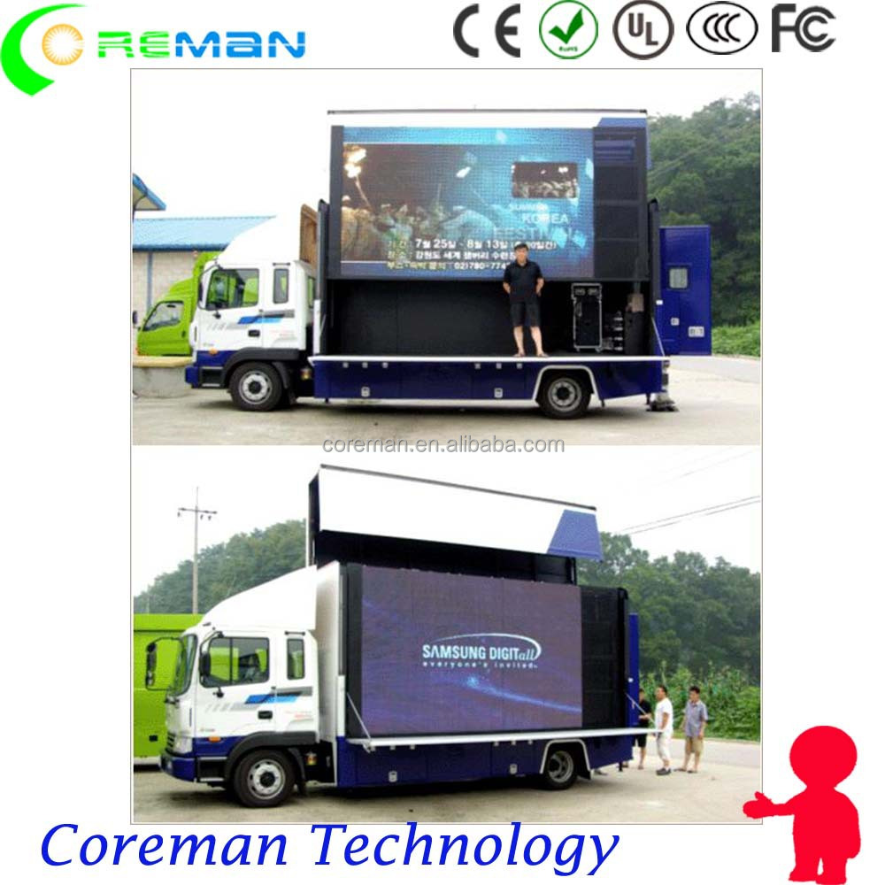 hd 720p porn video crt tv 3G truck led display screen / mobile led board wireless advertising p6 p8 p10 p16