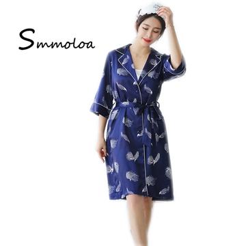 Smmoloa Wholesale Comfortable Long Sleeves Sleepwear Silk Women Pajamas Sets b45d48285