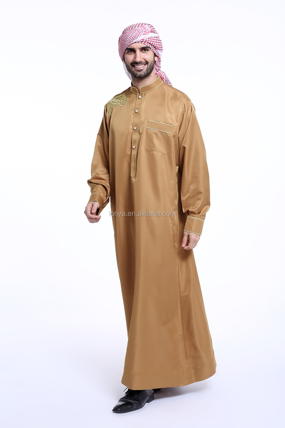 Traditional muslim dress white abaya modest clothing men abaya