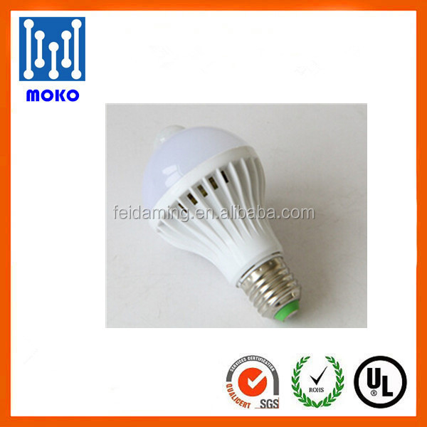 Factory PIR infrared motion sensor e27 led bulb high lumen Detector Light Bulb Lamp