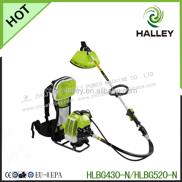 High quality 2 stroke 52cc gas engine knapsack bush cutter