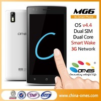 OEM Brand Custom Brand OKl ! MG6 5 inch IPS Dual Core 5MP android 4.4 Dual Sim 3G no brand smart phone