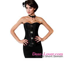 Hot Sexy Brocade Steampunk Slimming Waist Corset with Clasp Fasteners