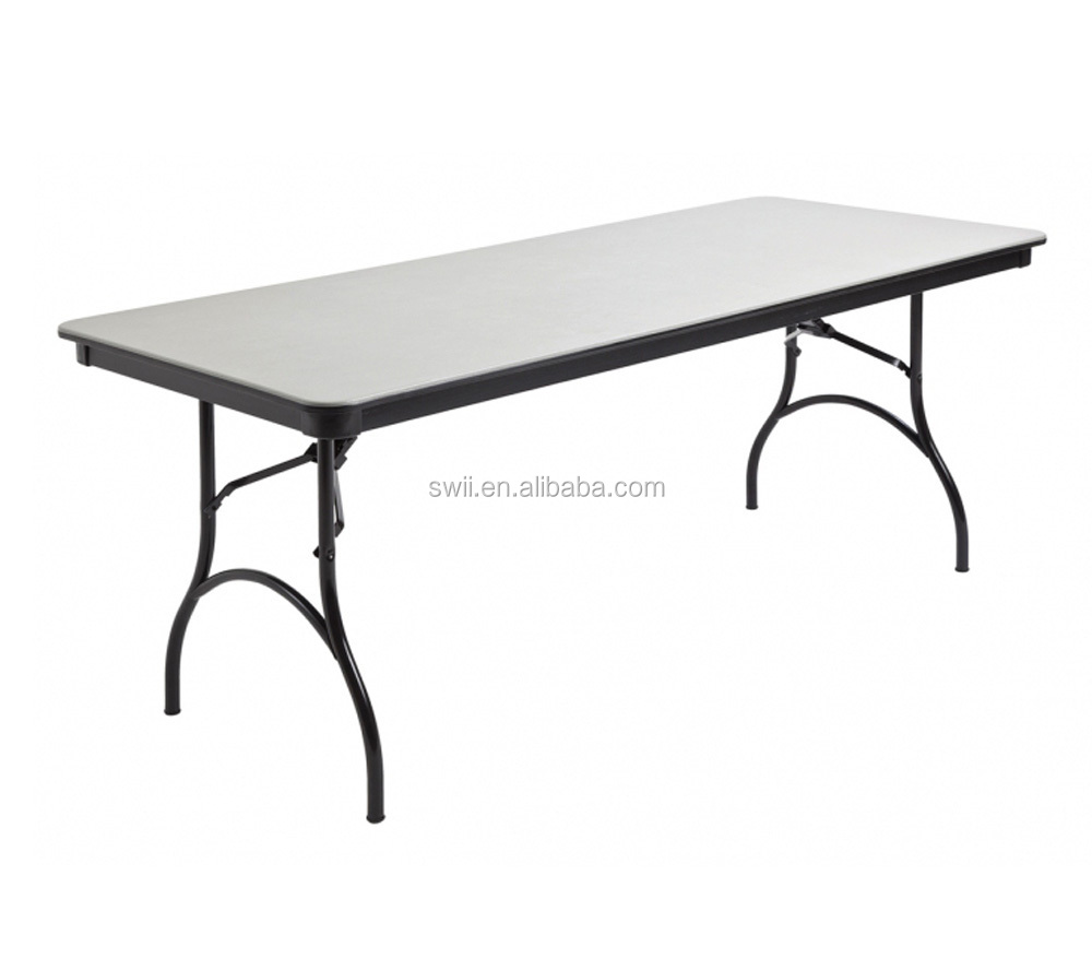 Crescent Folding Banquet Table With Plywood Top Serpentine Buffet