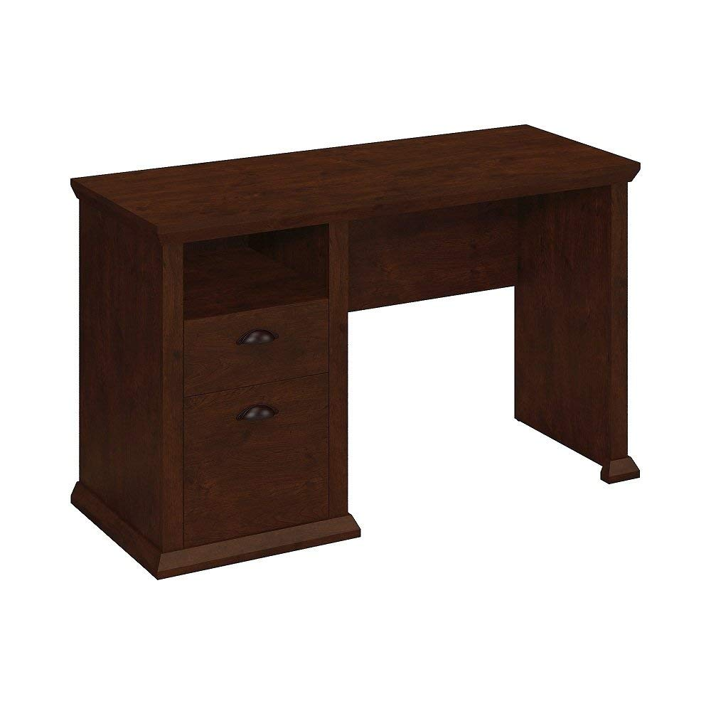 MyEasyShopping Cherry Finish Furniture Yorktown Home Office Desk in Antique Bush Furniture Drawer File Business