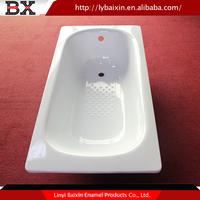 Best price enamel 290MM-390MM Depth cast iron bathtub 1001