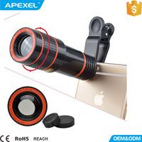 Cell phone camera lens external mobile telescope lens 12x zoom telephoto lens