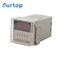Digital Dual Relay Timer 24vac Time Delay Relay Dh48s-s