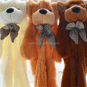 Wholesale Unstuffed Plush Teddy Bear Toy Outer Skin with Bow Tie