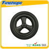 rubber and polyurethane material small castor wheel