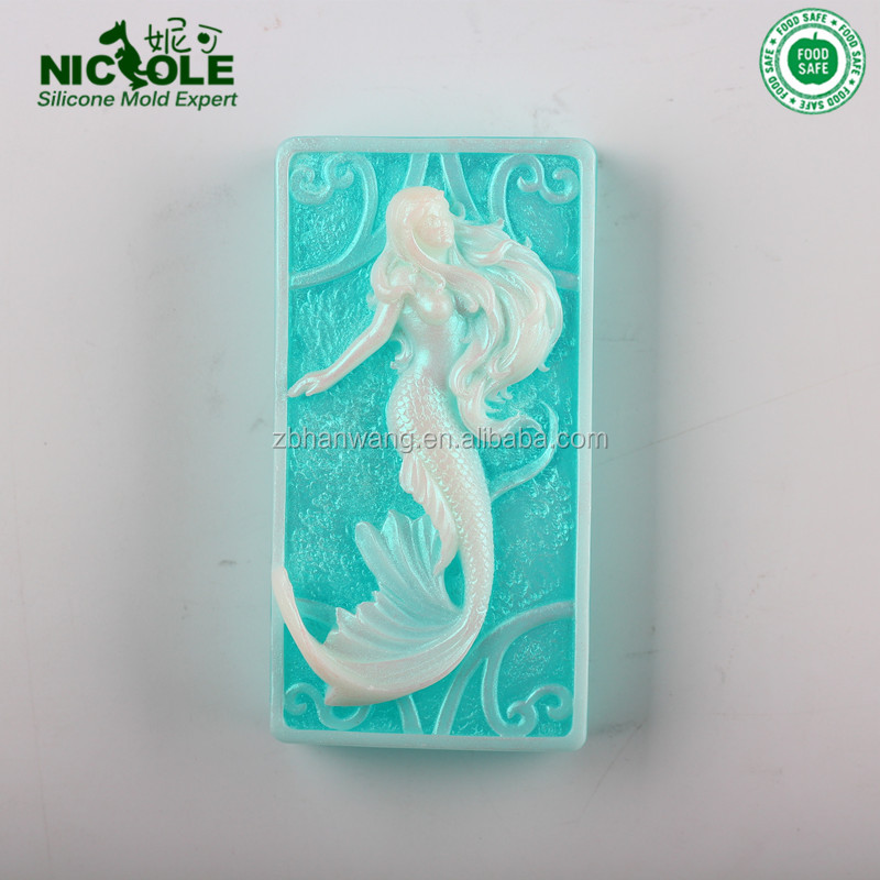Nicole Mermaid Silicone Soap Mold, Chocolate/Silicone Soap Loaf Molds