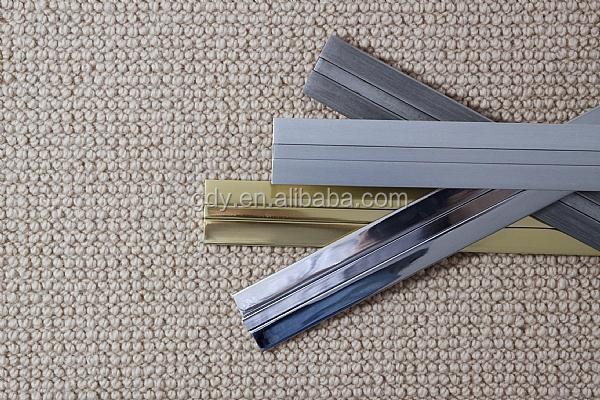 Aluminum Carpet Edge Strip High Quality Zig Zag  Aluminium Flooring Profile  Carpet Tack Strip And