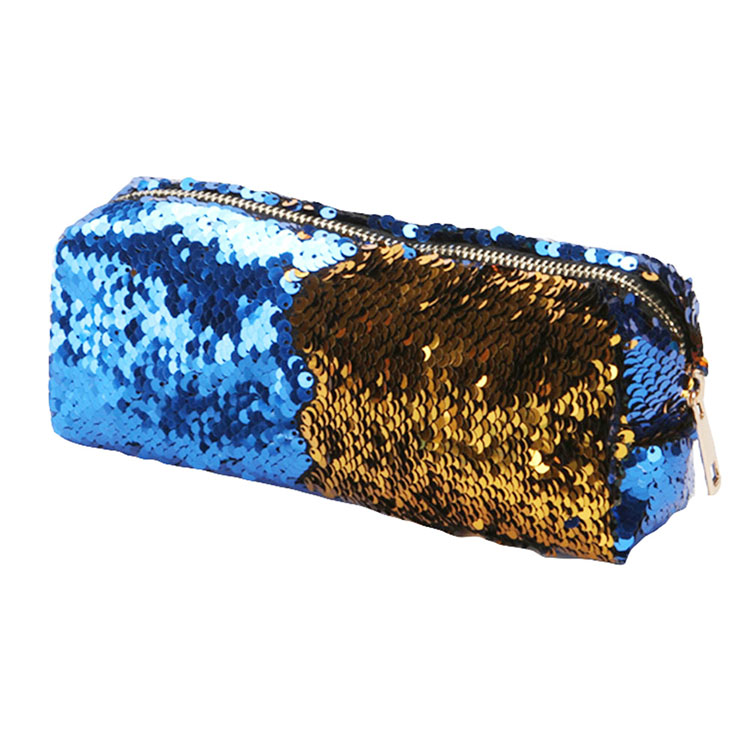 Magic Sequin Pencil Case Bag Reversible Glitter Pencil Pouch Small Makeup Organizer Purse