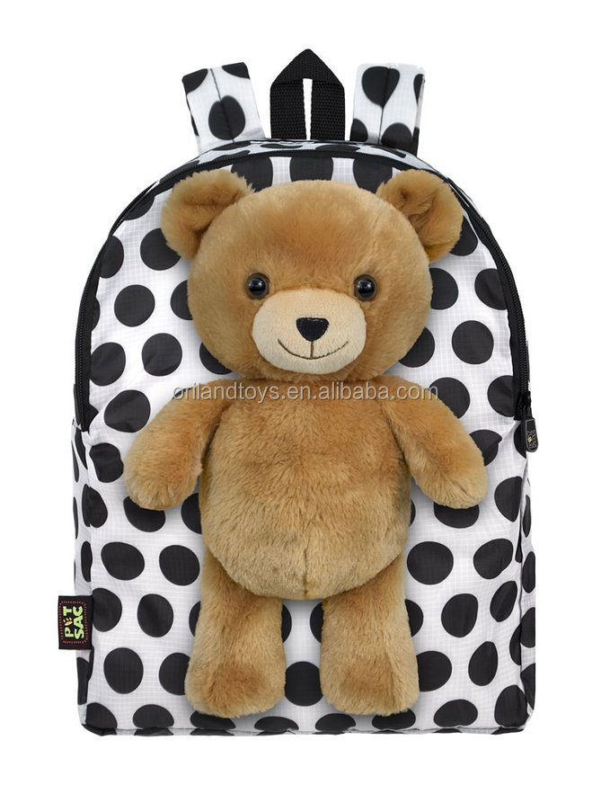 New! Sweet animal shape cute teddy bear plush backpacks for kids gifts