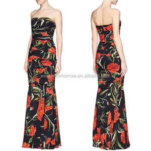 Women long maxi dress bust darts for fit tule dresses slim fitting for wholesale