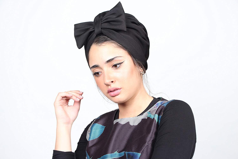 db9c8e0e844 Get Quotations · black bow turban