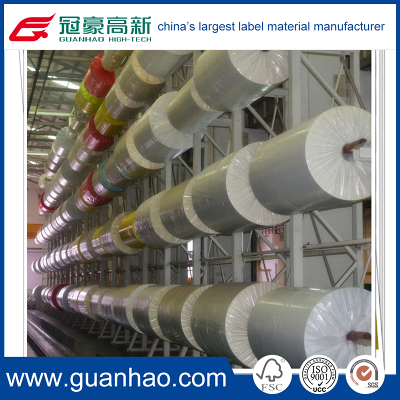 high quality offset adhesive inkjet printing label paper in roll