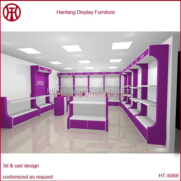 Wood Shoes Shop Decoration With Fashion Design