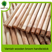 Well straight Varnished mop stick with cheap price and high quality