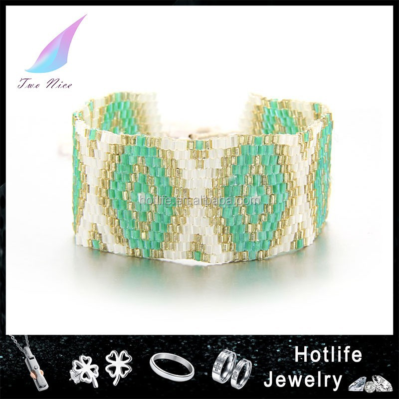 wholesale jewelry hot sale new beaded wrap bracelet 2015 with macrame knot