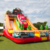 Commercial outdoor cheap dry slides for sale , double lane car inflatable slide