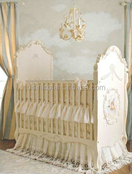 Victoria Style Lvory White Children Bed Elegant Hand