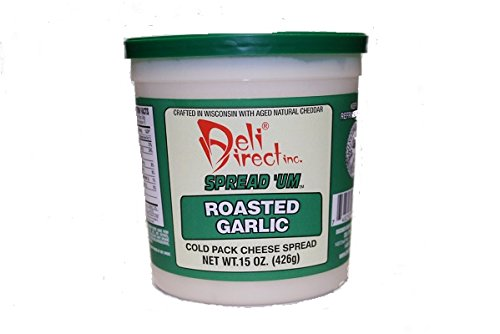 Wisconsin Cheese Spread - Roasted Garlic (3 Pack of 15oz. Each Containers)