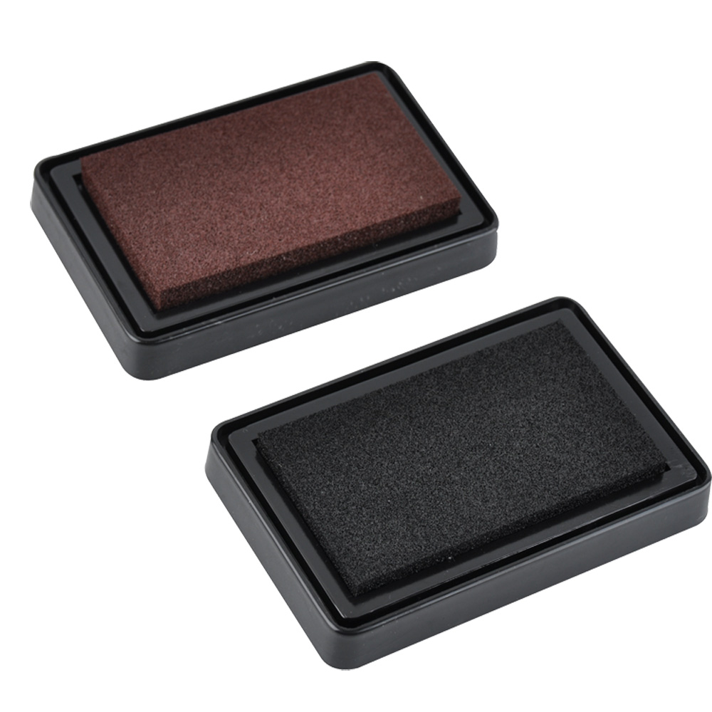 2pk high quality large DIY finger print stamp ink pad for paper, wood, fabric