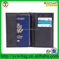 Embassy Black Leather Passport Holder/Wallet