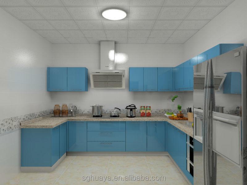 3 5 M Ringan Biru Lacquer Tinggi Gloss Selesai Kabinet Dapur