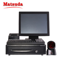 15 inch Touch Screen POS System Electronic Payment Device for restaurant