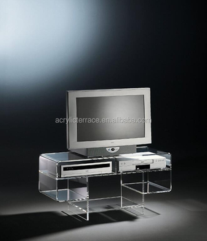 2017507141 Clear Acrylic Tv Stand Lucite Side Tables