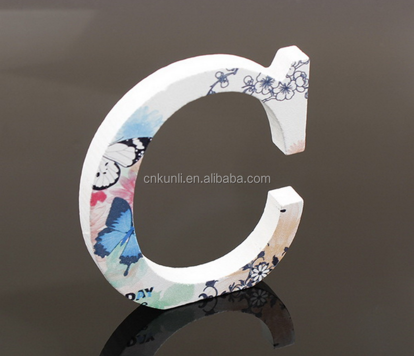 MDF alphabet letters customized printing wooden home decoration alphabet letters