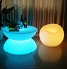 High grade PE plastic LED table party bar furniture coffee table cocktail table