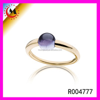 ITALY STYLE WHOLESALE FASHION JEWELRY 14K GOLD JEWELRY RING WITH AMETHYST