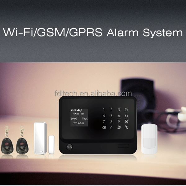 G90B SMS relay gam alarm, simple GSM alarm systems, best Home security monitoring system support many indoor/outdoor cameras