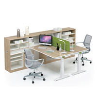 Modern standing desk 2 person open office cubicle workstation in Frank
