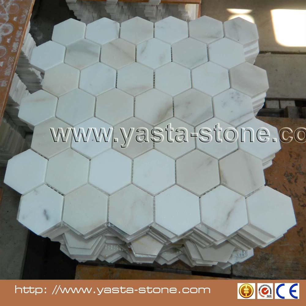 Asia Carrera Marble carrara white italian carrera marble hexagon mosaic tile - buy marble  mosaic tile,hexagon marble mosaic tile,carrara white italian carrera marble