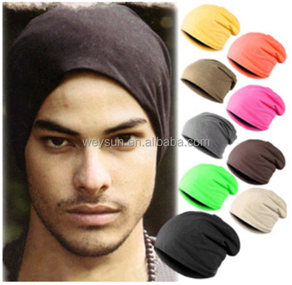 new solid male beanies women hats casual Polyester men's hats