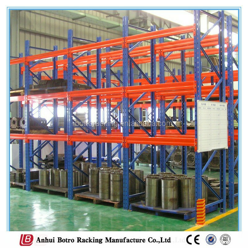 Durable and high density large capacity steel box beam pallet rack,logistic equipment racking system& pallet racking