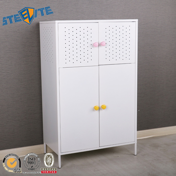 Charmant White Baby Cabinet Locker Baby Almirah Designs