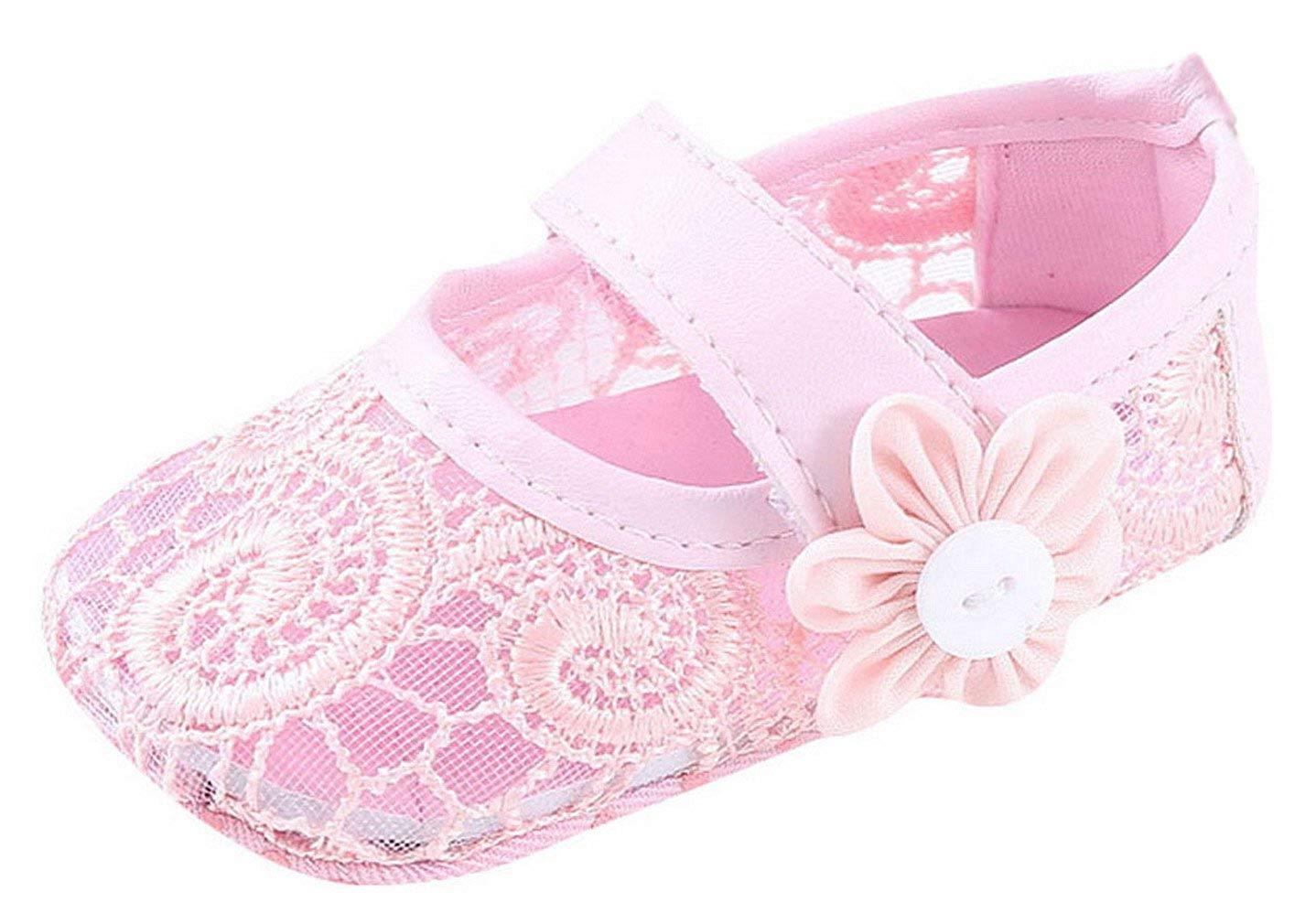 bff35e1d831 Get Quotations · La Vogue Baby Girl Soft Sole Crib Shoes Flower Lace Shoes  Toddler Prewalker