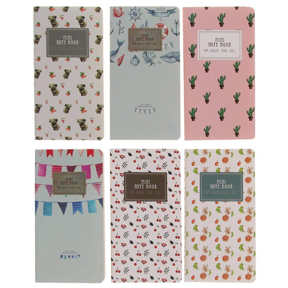 AZSNOW Mini Pocket 48 Lined Pages Monthly Planner Notepad Memo Notebook School Supplies