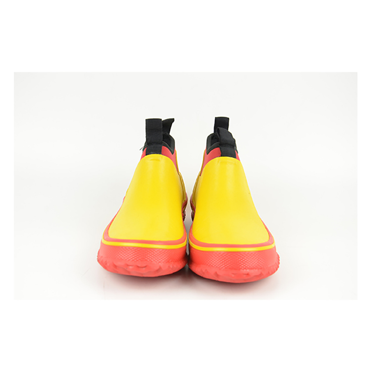 high quality pvc leather shoe cow print rain boots