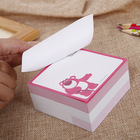 Graphic Customization [ Block Memo Sticky ] Paper Block Memo Pad Paper Sticky Cube With Custom Printing