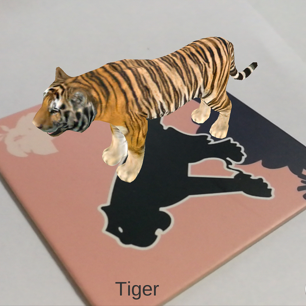 Augmented reality software INVJOY AR, animal AR 3D learning card for kids toys