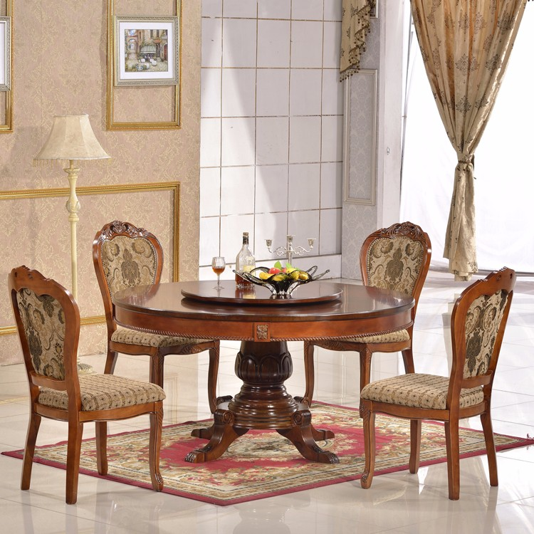 Home Furniture Dining Room Set Round Wood Dining Table Set