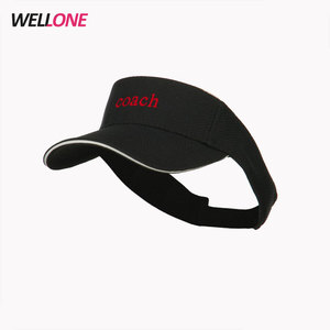0a71dd7aae2 Wellone OEM adult curved sandwich forehead adjustable strap black  breathable mesh fabric embroidery visor