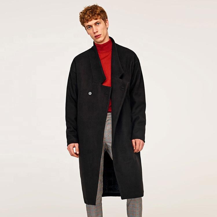 2019 new design men's wool long coat