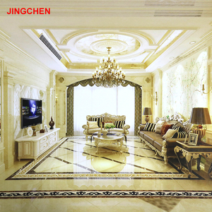 Chinese restaurant indoor living room polished artificial stone marble ceramic floor tiles